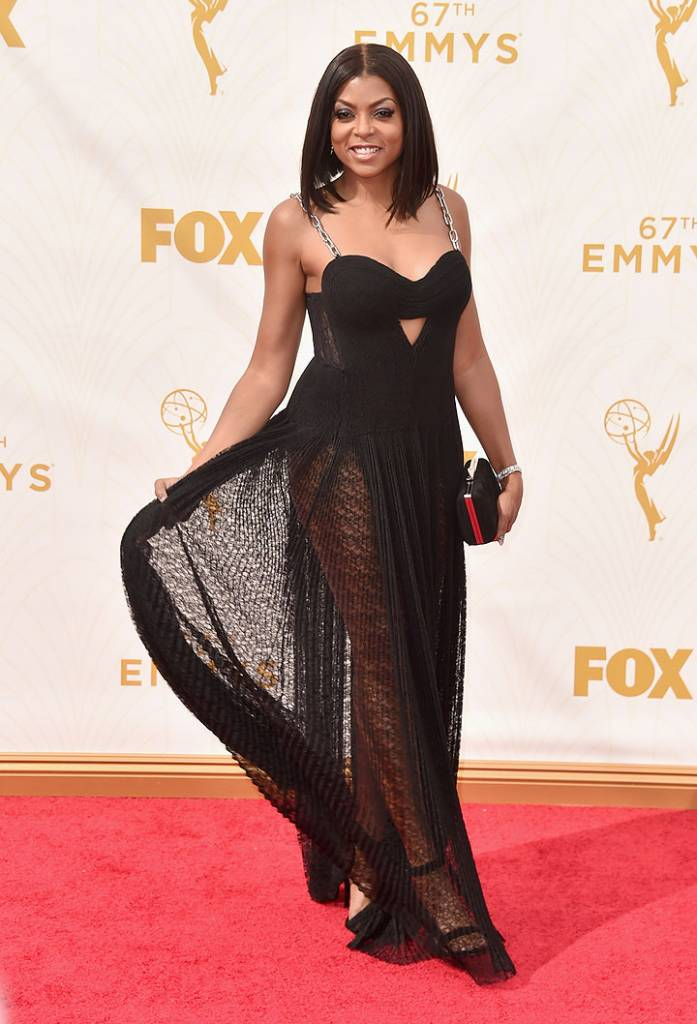 Actress Taraji P. Henson attends the 67th Emmy Awards at Microsoft Theater on September 20, 2015 in Los Angeles, California.