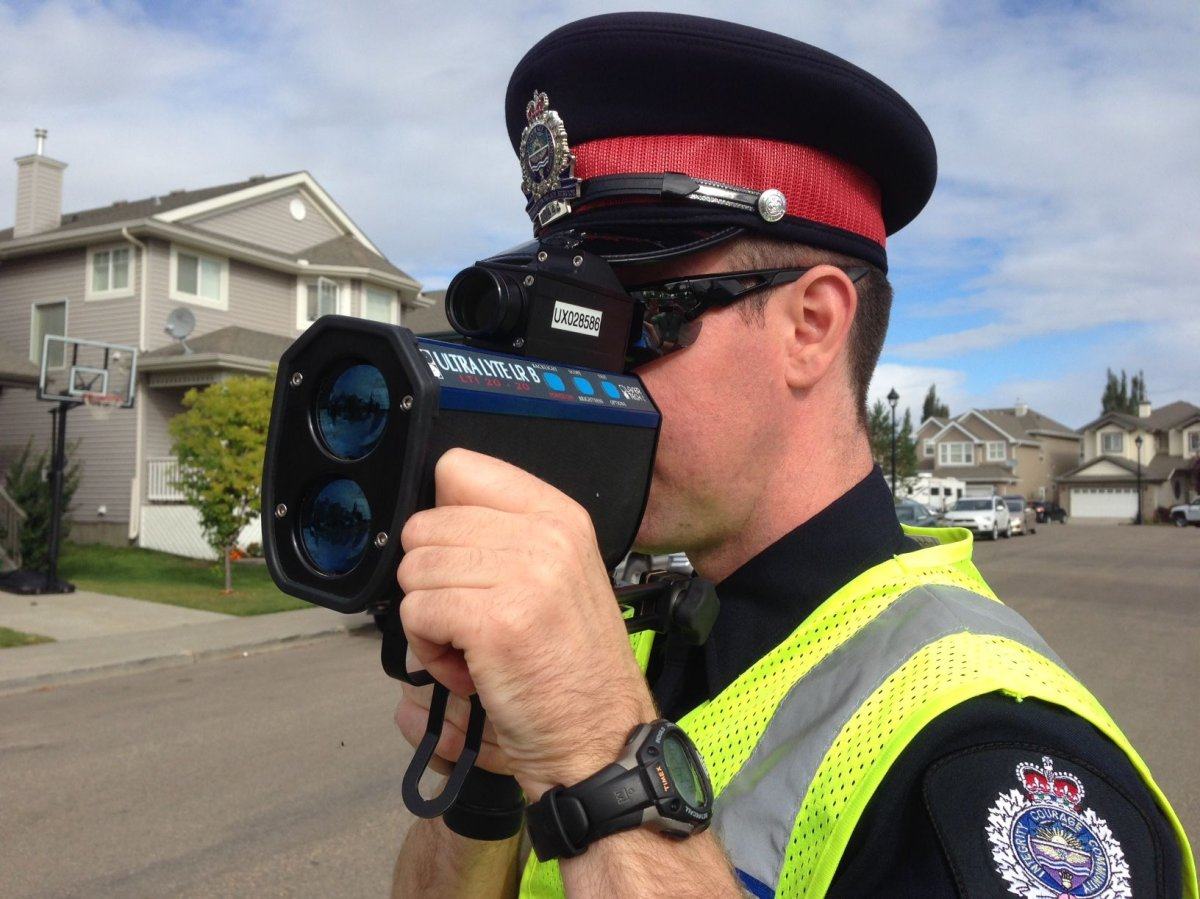 In a one-day traffic blitz earlier this week, the Edmonton Police Service handed out nearly 3,500 tickets to drivers, the majority of which were for speeding.