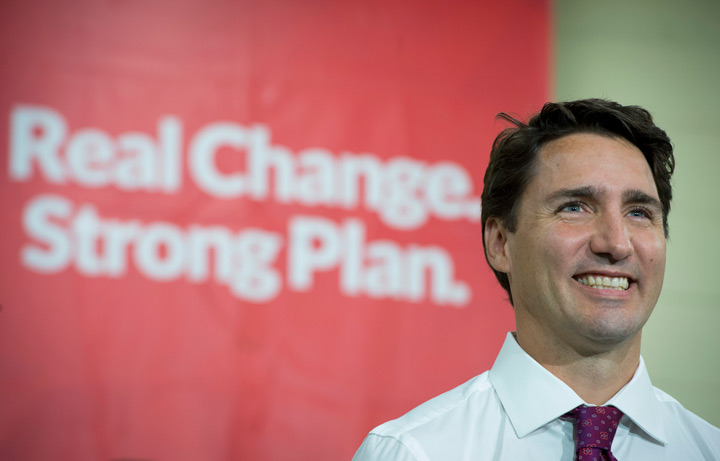 Liberal leader Justin Trudeau on Wednesday, September 9, 2015.