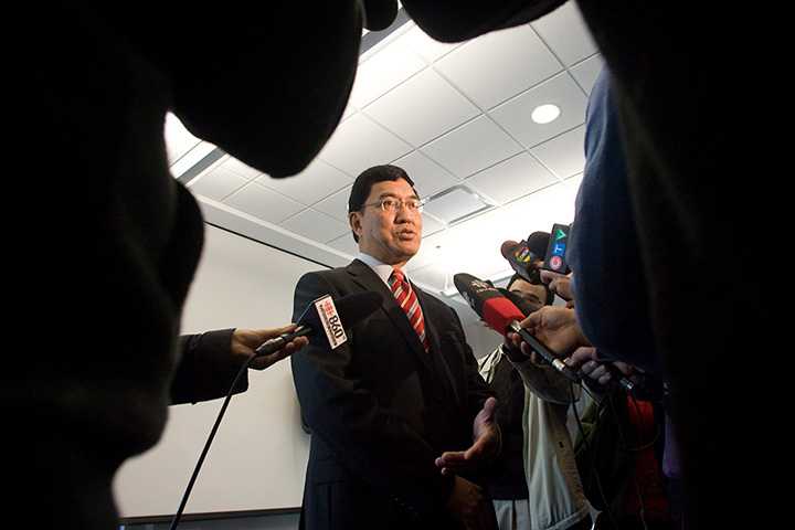 University of Western Ontario President Amit Chakma answers questions at a news conference in London, Ont., Tuesday, Dec.20, 2011.