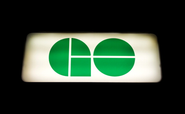 GO Transit signage is displayed outside of Union Station in Toronto, Ontario, Canada, on Tuesday, Aug. 16, 2011.