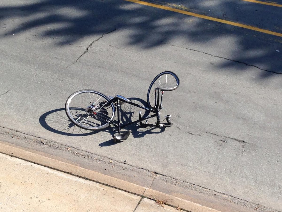 A cyclist was killed after being struck by a propane truck on Purcell's Cove Road Wednesday morning.