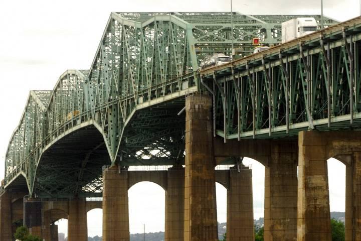 The Champlain Bridge in Montreal.