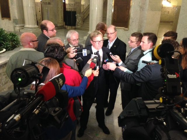 Alberta Education Minister David Eggen announces the appointment of an advisor to oversee Edmonton Catholic Schools, Wednesday, Oct. 14, 2015.