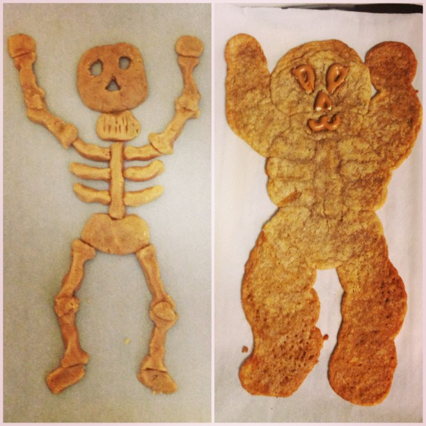 "This was supposed to be a ""vegan/gluten free skeleton."""