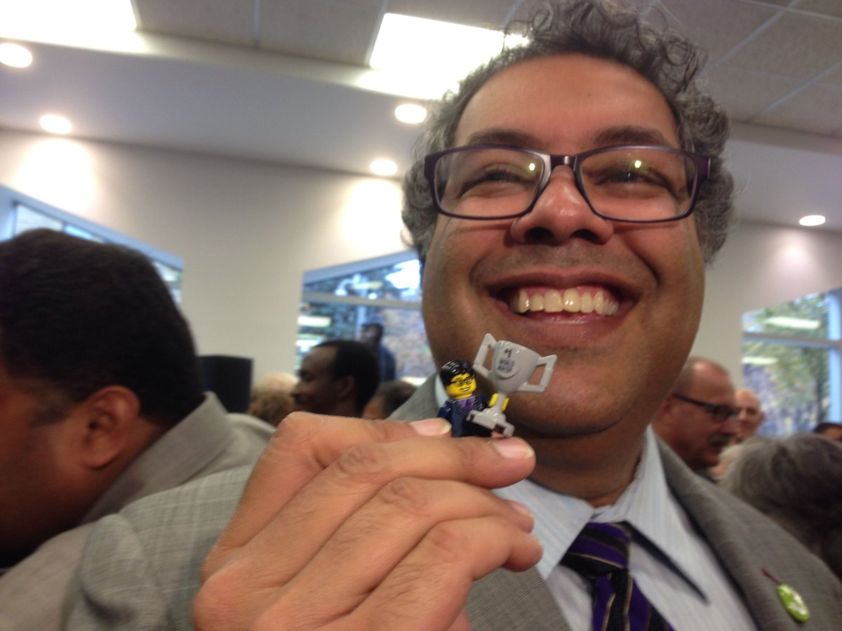 $100 pledge to the IdeaLab at New Central Library can buy you a mini-Nenshi holding a world's greatest mayor cup.