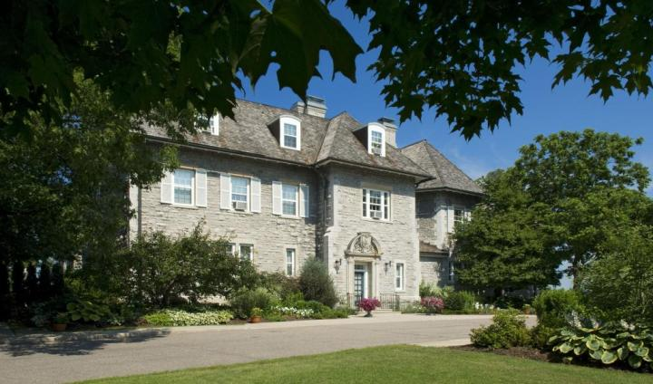 A view of the front of 24 Sussex Drive. The home is nearly 150 years old.
