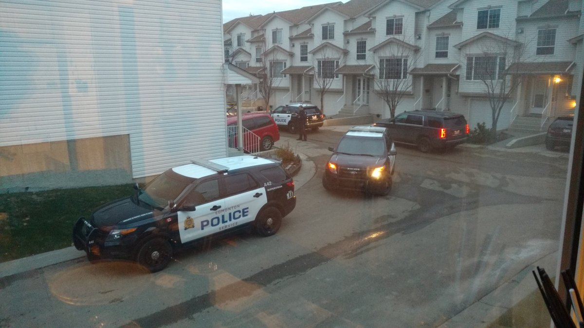 Edmonton police investigating the suspicious death of a teenage girl at a townhouse complex near 96th Avenue and 176th  Street in the Terra Losa neighbourhood.  October 31, 2015.