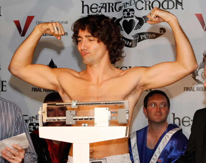 Justin Trudeau at weigh-in