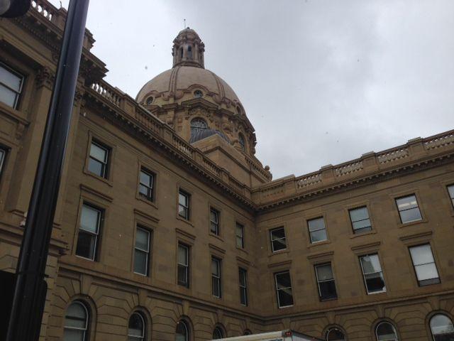 The Alberta legislature.