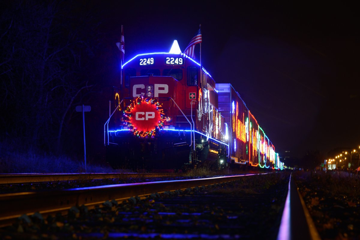 The Canadian Pacific Railway holiday train in Hamilton, Ont.