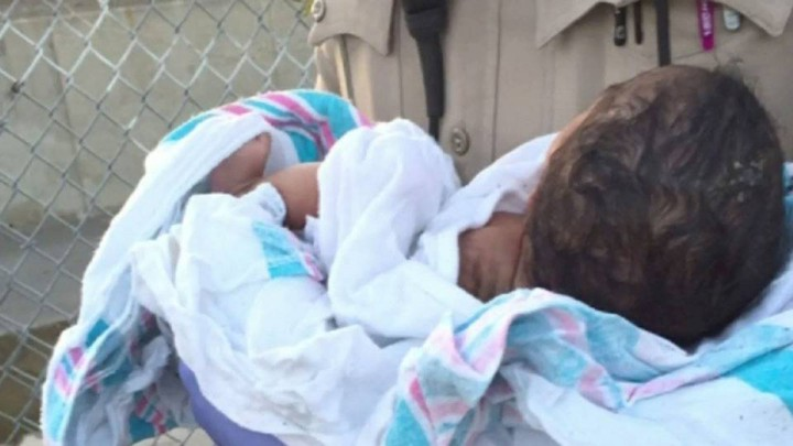 An infant was found abandoned in Compton, Cali., on Nov. 27, 2015.