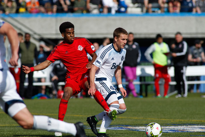 Saskatoon soccer player Brett Levis signs his second professional contract with Vancouver Whitecaps FC 2.