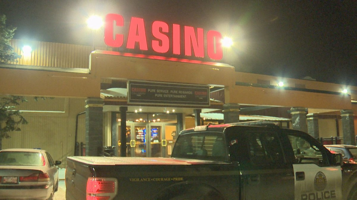 Police are searching for suspects after an elderly woman was attacked in the Casino Calgary parking lot on Wednesday, November 25, 2015.