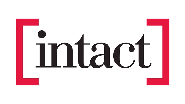 The corporate logo of Intact Financial Corporation is shown. The University of Waterloo and Intact Financial Corp. have created a new research centre that will look for new ways to reduce weather-related property damage linked to climate change. THE CANADIAN PRESS/HO.