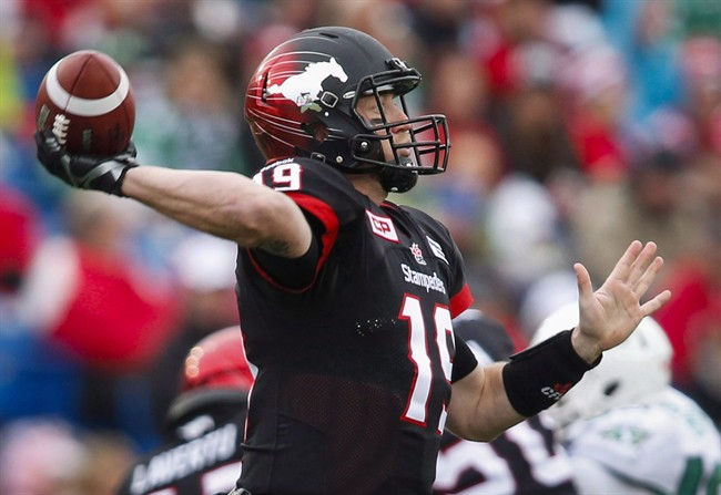 Calgary Stampeders quarterback Bo Levi Mitchell is accusing the Saskatchewan Roughriders of bending the CFL roster rules.