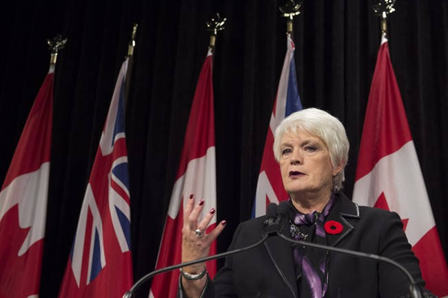 "Treasury Board President Liz Sandals suggests opposition to Nestle water taking is based on ""misinformation.""."