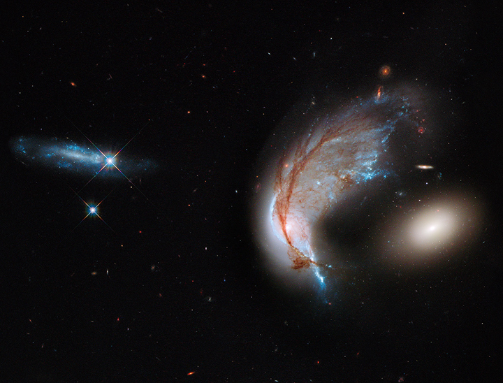 Galaxies exist in neighbourhoods similar to our own.