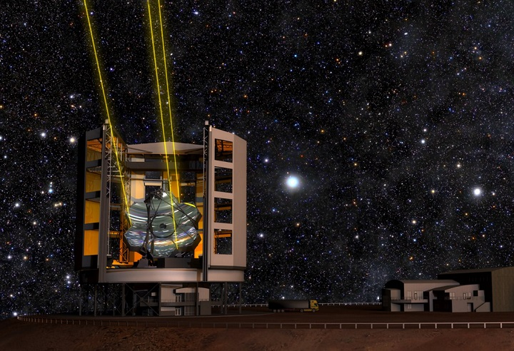 A rendering of the Giant Magellan Telescope, to be completed in 2021.