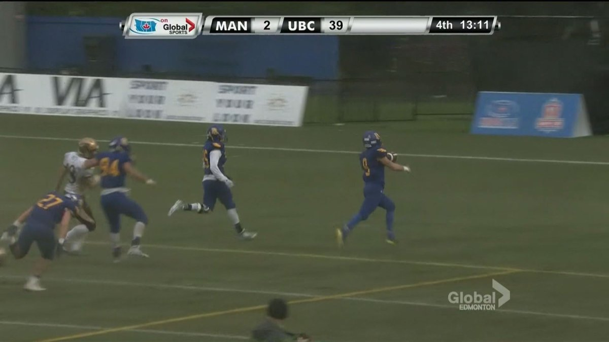 Manitoba falls to UBC in the Hardy Cup semi final on Nov. 7, 2015.