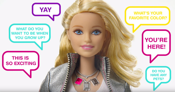 The Wi-Fi connected Hello Barbie uses voice recognition software – similar to voice assistant programs like Apple's Siri or Google now – interact with children.
