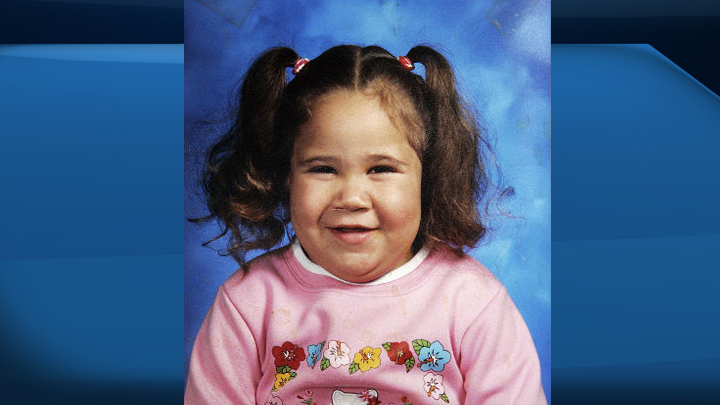 Katelynn Sampson is shown in this undated handout photo. Seven years after Katelynn Sampson's small, battered body was discovered in a Toronto apartment, a coroner's inquest will investigate just what allowed the little girl to be beaten to death by her legal guardians.