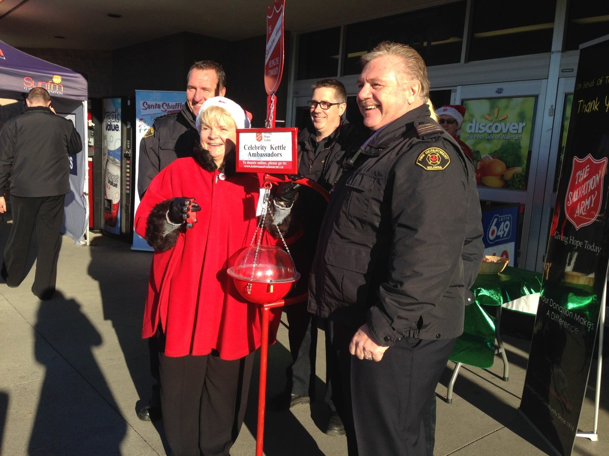 In this file photo, volunteers assist the Salvation Army Kettle Campaign in the Central Okanagan.