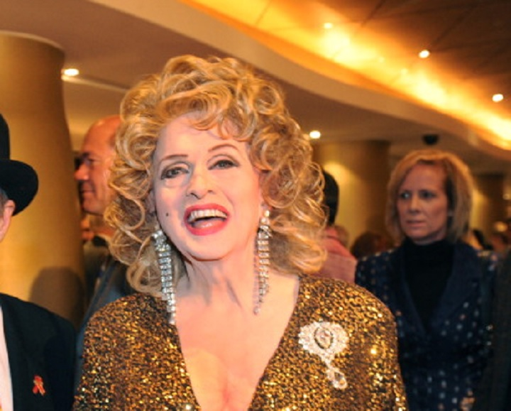 Michelle DuBarry appears on the red carpet of the Toronto opening of Priscilla, Queen of the Desert on Oct 25, 2105.