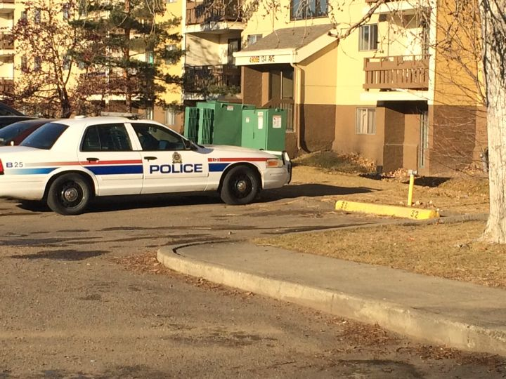 Police were called to an apartment in the area of 49 Street and 134 Avenue Saturday, Nov. 21, 2015.