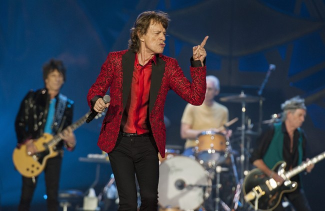 The Rolling Stones, seen here in November 2015, have asked Donald Trump to stop playing their songs at his political events.