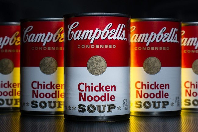 In this Wednesday, Jan. 8, 2014, file photo, cans of Campbell's soup are photographed in Washington.