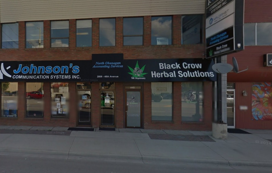 RCMP are investigating an armed robbery at the Black Crow Herbal Dispensary.
