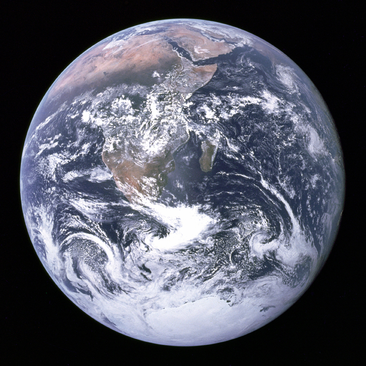 An image of Earth taken by NASA astronaut Frank Borman as the crew of Apollo 17 — the last Apollo mission — was travelling to the moon.