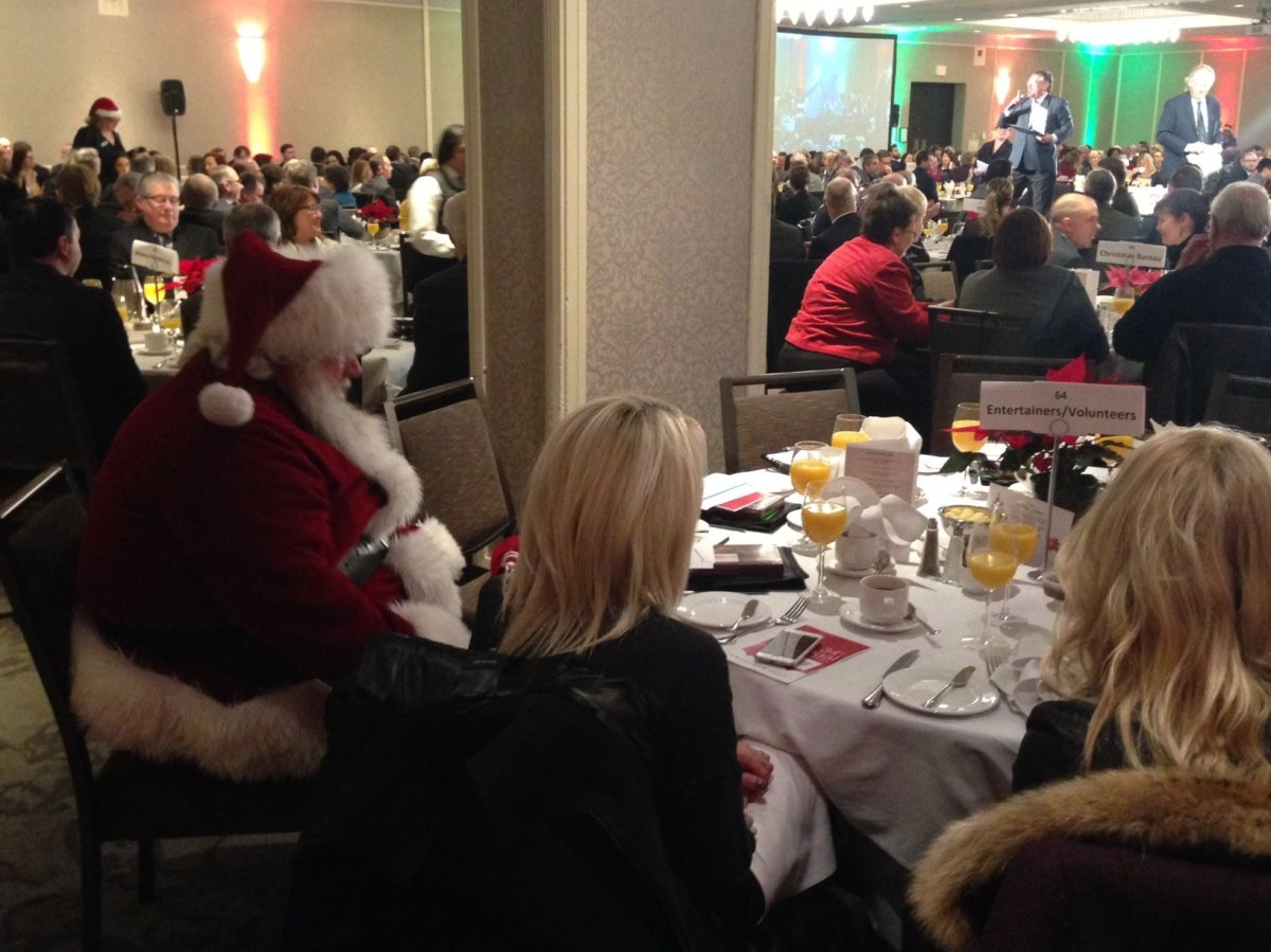 The Christmas Bureau of Edmonton holds its annual breakfast fundraiser, Tuesday, Dec. 15, 2015.