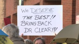Continue reading: Dozens of supporters protest Dr. Eilish Cleary's leave outside Department of Health