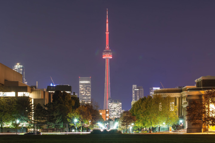 The CN Tower will light up red Sunday to commemorate the victims of the 1989 massacre at Montreal's École Polytechnique.