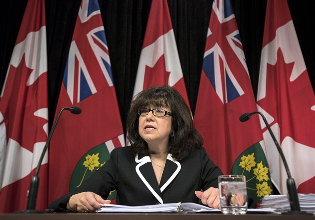 Bonnie Lysyk, Ontario's auditor general, speaks about her 2015 annual report during a press conference at Queen's Park in Toronto on Wednesday, December 2, 2015.