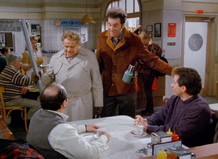 """A screenshot of """"Seinfeld"""" episode dubbed """"The Strike.""""  ."""