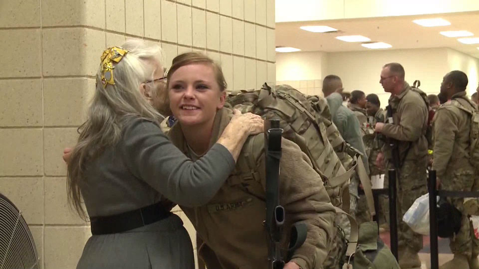 The Hug Lady Has Greeted Soldiers At Airport For Over A