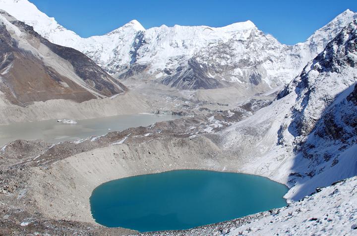 Imja Glacier, Himalayas, in October 2007.