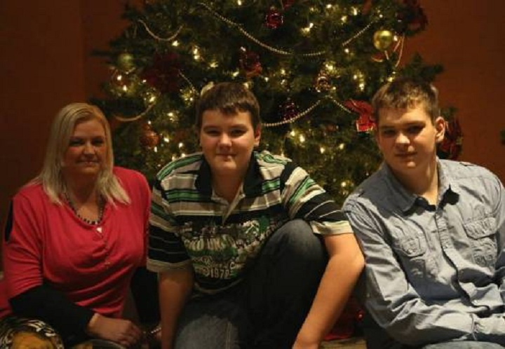 FILE PHOTO: The Juhasz family at the Walnut Grove Lutheran Church in Langley at Christmas in 2014.