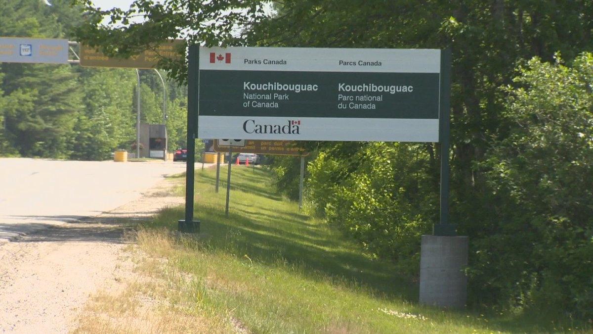 Kouchibouguac National Park sign is seen here in this undated photo.