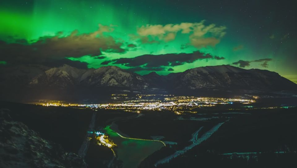 One of the pictures in Richard Gottardo's time-lapse video of the Northern Lights.