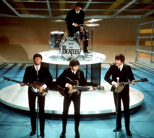 "The Beatles perform on the CBS ""Ed Sullivan Show"" in New York."