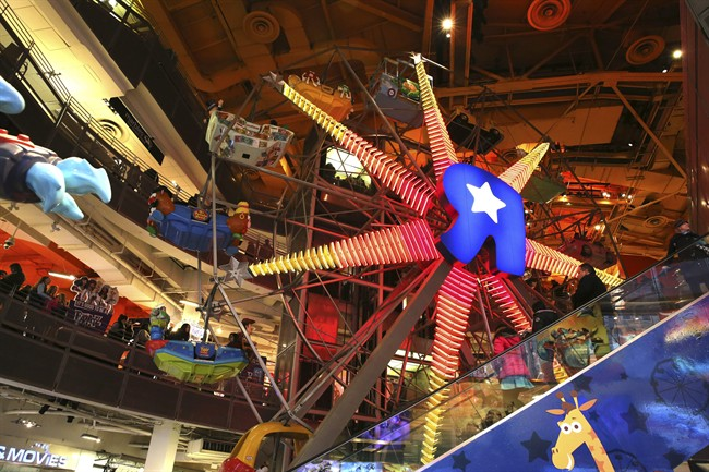 The Ferris Wheel at the Toys R Us store in New York's Times Square. The flagship store closed at the end of 2015.