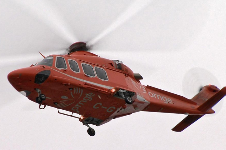 OPP say a person had to be airlifted following an incident at a construction site in Perth East.