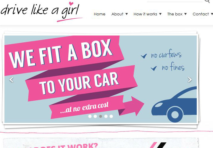 """Girl drivers are safer and deserve lower premiums. It's unfair that they should be subsidising boy racers,"" argues British car insurance site drivelikeagirl.com."