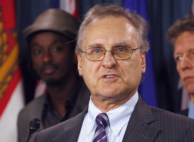 Stephen Lewis speaks during a news conference in Ottawa on Wednesday March 9, 2011.