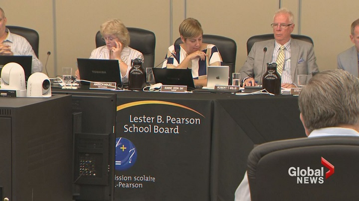 This file photo shows a school board meeting in progress. Bill 86, would do away with school boards as we know them. David Birnbaum, former executive director of the English School Board Association and current Liberal MNA for D'Arcy McGee, supports the proposed bill. Sunday, Jan. 24, 2016.