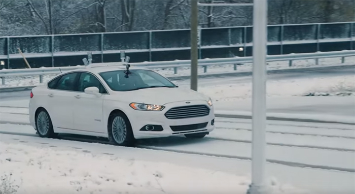 Ford self driving car winter